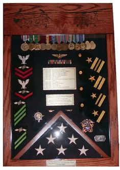 Laser-Top Shadow Box, 3x5 :: Military Shadow Boxes :: Morgan House Woodprojects