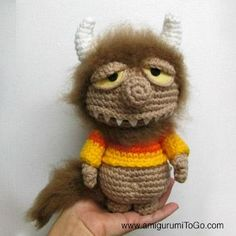 Unamed Monster, Where the Wild Things Are, Crochet Pattern Download this free pattern at Amigurumipatterns.net