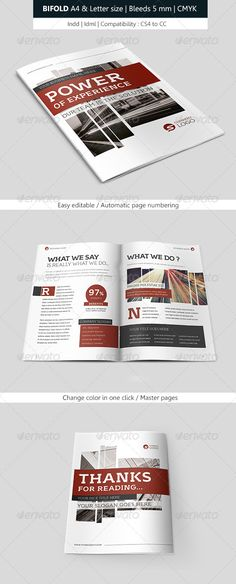 Corporate Indesign Bifold Brochure Template Brochure Template