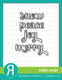 You asked, we listened…More words in this awesome font! We supersized these words so that they make a bold statement on your cards, tags and scrapbook pages. Pair them with the Winter Words Coordinates stamp set for even more great sentiment options.