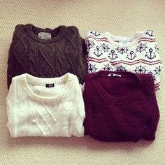 I'd be happy if it was cold all the time so I could always wear sweaters.