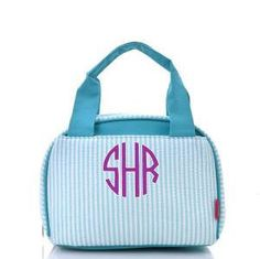 A personal favorite from my Etsy shop https://www.etsy.com/listing/242243051/monogrammed-lunch-bag-pinstripe
