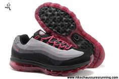 Hommes Nike Air Max 95 DYN FW Chaussures 553554 060 Gris Noir Rouge Pas cher