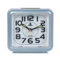 Mini Alarm Clock, Aibrou Squre Analog Travel Alarm Clock Blue -- Don't get left behind, see this great product offer  : Home Decor Clocks