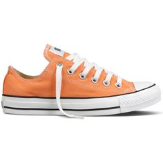 CTAS Nectarine OX ($50) ❤ liked on Polyvore featuring shoes, sneakers, converse, zapatos, women's footwear, converse trainers, converse shoes, converse sneakers and converse footwear