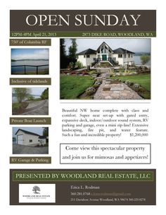 Sun Open House 12-4pm! $1,200,000-3 Bdrm/3 Ba Beautiful Two Level Columbia River Frontage View Home on 5.24 Acres in Woodland, WA!