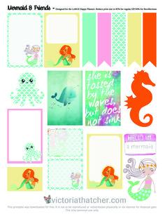 Planner & Journaling Printables ❤ Mermaid Free Planner Printable