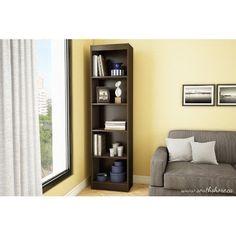 Narrow Adjustable 5 Shelf Bookcase Storage Furniture Office Home Bookshelf Decor