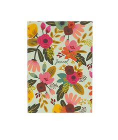 The Rifle Paper Co. mint floral journal features: - 208 lined pages - measures 5 x 7 inches - Smyth sewn lay flat binding - soft cover - metallic gold interior