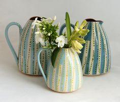 dotted stripe jugs. katrin moye. uk.