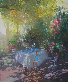 Talk to LiveInternet - Russian Service Online Diaries Watercolor Landscape, Landscape Art, Landscape Paintings, Watercolor Art, Landscapes, Les Beatles, Environment Concept Art, French Artists, Light Art
