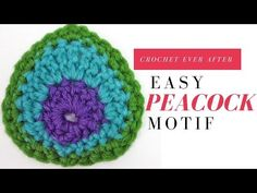 [Easy & Free] Peacock Feather Applique - Crochet Pattern & Video Tutorial! | Diy Smartly