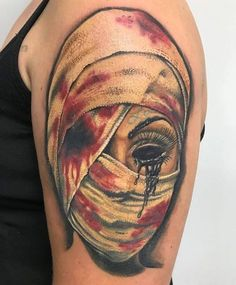 olio.tattoo Scary Sleeve Horror Creepy Tattoo by Ronald from Drop Of Ink Tattoo and Body Piercings - Mechanicsburg, PA @ronald_carr #scary #sleeve #horror #creepy -- More at: https://olio.tattoo/tattoo-images/mentions:scary