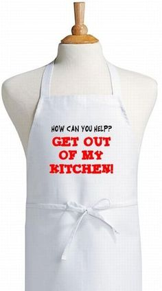 Kitchen Bitch Funny Chef Apron, White, One Size Fits Most Towel Apron, Bib Apron, Cooking Humor, Cooking Quotes, Cupcake Liner Flowers, Kitchen Aprons, Kitchen Towels, Funny Aprons, Silhouette Projects