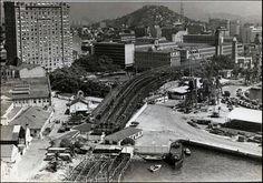 construção do viaduto da PERIMETRAL - proximo a praça XV - anos 60 - foi destruido em 2014