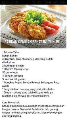 Bakwan tahu Snacks Dishes, Snack Recipes, Cooking Recipes, Indonesian Cuisine, Breakfast For Dinner, Street Food, Asian Recipes, Kids Meals, Food To Make