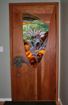 Stained Glass Entry Door by James Hubbell