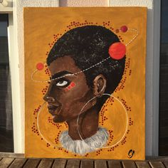 African Woman Handmade Portrait Acrylic Painting Home Decoration by Catrylics on Etsy https://www.etsy.com/listing/584712451/african-woman-handmade-portrait-acrylic