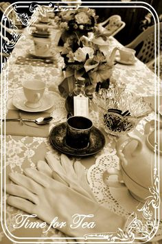 Outdoor Garden Night Tea Party Table Settings