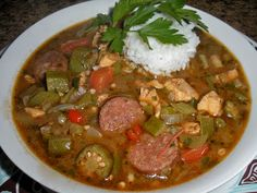 Chef JD's Comfort Cuisine: Chicken and Andouille Fil'e Gumbo