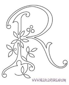 Monogram for Hand Embroidery: Letter R by InLovewithHim