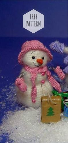Free Pattern Nice Amigurumi Snowman - Amigurumi Free Patterns and Amigurumi Tutorials Crochet Snowman, Crochet Bear, Crochet Animals, Cute Crochet, Crochet Dolls Free Patterns, Christmas Crochet Patterns, Amigurumi Patterns, Crochet Christmas, Amigurumi Tutorial