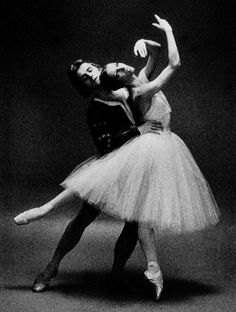 "Mikhail Baryshnikov with Natalia Makarova in ""Giselle"""