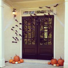 Decoraciones de Halloween para la puerta de casa