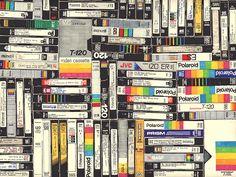 Hollis Brown Thornton, VHS, permanent marker on paper