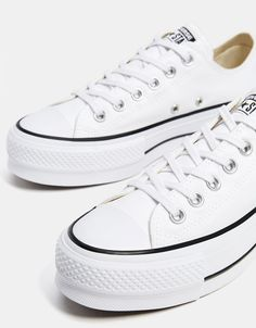 CONVERSE CHUCK TAYLOR ALL STAR platform sneakers - Bershka #fashion  #product #converse #