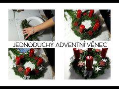 DIY | JEDNODUCHÝ ADVENTNÍ VĚNEC - YouTube Christmas Wreaths, Holiday Decor, Youtube, Home Decor, Noel, Decoration Home, Room Decor, Home Interior Design, Youtubers