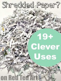 Uses for Shredded Paper - Red Ted Art - Make crafting with kids easy & fun - Great uses for shredded paper – some really clever shredded paper recycling ideas here Information - Recycled Paper Crafts, Paper Mache Crafts, Paper Crafts For Kids, Kid Crafts, Clay Crafts, Paper Clay, Diy Paper, Paper Art, Recycle Paper