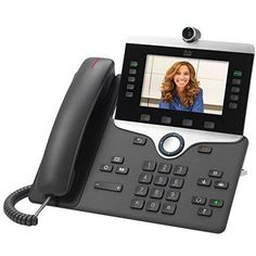 Cisco 8845 Series VoIP Business Phone with HD Video and 5 Lines, CP-8845-K9