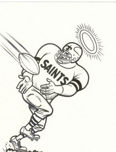 saints coloring pages football raiders - photo#15