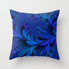 Blue Throw Pillow by Christy Leigh - $20.00