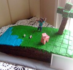 Minecraft cake Morales Morales Alford Saw this and thought of Josh! Easy Minecraft Cake, Cool Minecraft Houses, Minecraft Pixel Art, Minecraft Crafts, Minecraft Party, Minecraft Skins, Minecraft Buildings, Hama Beads Minecraft, Perler Beads