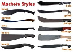 Cane style machetes were popular here in the South when I was younger. Now, I prefer a golok or parang style due to weight distribution in the swing ( I'm not as young as I used to be)