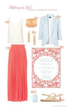 Stationery & Style: casual backyard wedding
