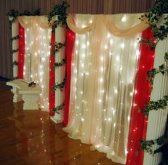 Restaurant wedding and tables on pinterest Valentine stage decorations