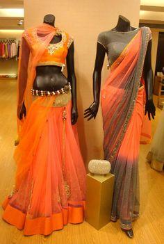 beautiful saree and saree blouse!