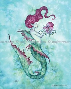Fairy Art Artist Amy Brown: The Official Online Gallery. Fantasy Art, Faery Art, Dragons, and Magical Things Await. Sea Creatures Drawing, Creature Drawings, Unicorns And Mermaids, Mermaids And Mermen, Mermaids Exist, Amy Brown Fairies, Mermaid Artwork, Mermaid Fairy, Dragon Artwork