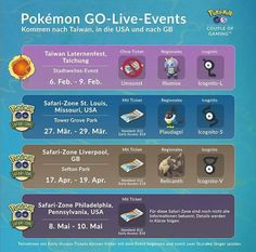 Niantic Announces First Four Pokémon GO Live Events of 2020 Pokemon Go Chart, Pokemon Live, Go Guide, Lantern Festival, First Event, Live Events, Equinox, Game, Egg