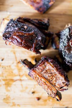 Irish Beef Short Ribs aus dem Big Green Egg