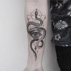 Image result for blackwork snake tattoo