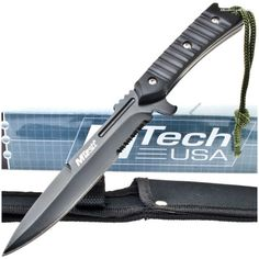 MTech MT-536 Machine Gun Dagger-Style Knife Part Serrated | MooseCreekGear.com | Outdoor Gear — Worldwide Delivery! | Pocket Knives - Fixed Blade Knives - Folding Knives - Survival Gear - Tactical Gear