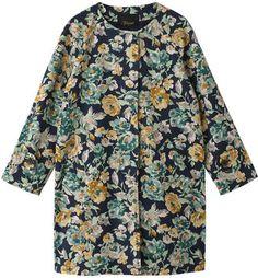 Cotton flower coat / ShopStyle: Florent コットンストレッチ花柄コート