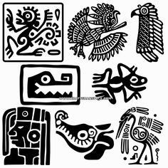 """Mayan designs. FREE """"PERSONAL USE"""" DWG, SVG, EPS FILES."""