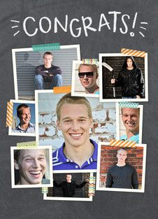 Congrats Chalkboard Photo Collage