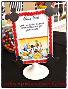 label for candy table Mickey 1st Birthdays, Mickey Mouse Clubhouse Birthday Party, Twin Birthday Parties, Mickey Mouse 1st Birthday, 1st Boy Birthday, Birthday Ideas, Mickey Mouse Party Decorations, Mickey Mouse Parties, Mickey Mouse Photos