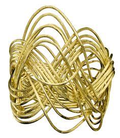 H.Stern Zephyr bracelet in textured 18k yellow gold.